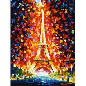 Париж - огни Эйфелевой башни Раскраска картина по номерам акриловыми красками на картоне Белоснежка