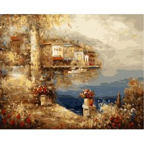 Средиземноморский пейзаж Андрея Влодарчика Раскраска по номерам на холсте Menglei