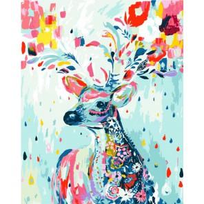 Олень Раскраска картина по номерам акриловыми красками на холсте Menglei