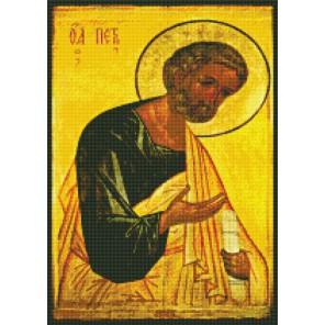 Апостол Петр Алмазная вышивка мозаика с рамкой Цветной
