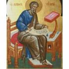 Святой Апостол и Евангелист Матфей Алмазная вышивка мозаика с рамкой Цветной