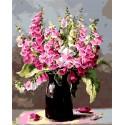 Букет из пурпурной наперстянки Раскраска картина по номерам на холсте Iteso