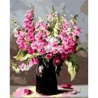 Букет из пурпурной наперстянки Раскраска картина по номерам акриловыми красками на холсте Iteso