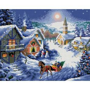 Зимнее раздолье Алмазная вышивка мозаика на подрамнике Белоснежка