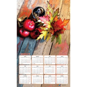 Осенний натюрморт Календарь 2017г Алмазная частичная вышивка (мозаика) Color Kit | Купить календарь