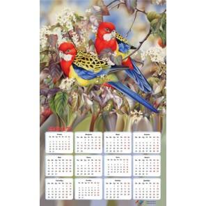 Райские птички Календарь 2017г Алмазная частичная вышивка (мозаика) Color Kit | Купить календарь