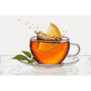 Чай с лимоном Алмазная мозаика на твердой основе Iteso