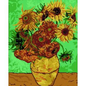 GZ222 Подсолнухи Ван Гог Алмазная мозаика вышивка Molly | Купить алмазную мозаику Молли