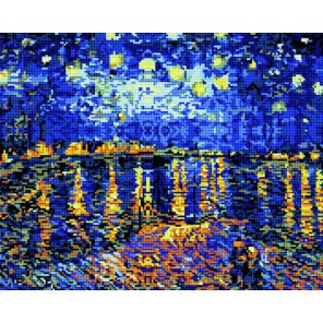 GL026 Ван Гог. Ночь над Роной Алмазная мозаика стразами Molly | Купить алмазную мозаику Молли