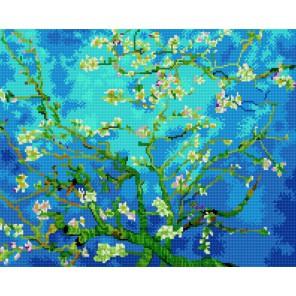GZ354 Ван Гог. Миндаль Алмазная мозаика вышивка на подрамнике Molly | Купить алмазную мозаику Молли