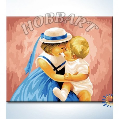Счастливый момент Раскраска картина по номерам акриловыми красками на холсте Hobbart