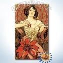 Рубин. Драгоценные камни (Альфонс Муха) Раскраска картина по номерам на холсте Hobbart