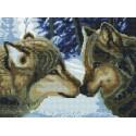 Два волка Алмазная вышивка мозаика на подрамнике Белоснежка, картину из алмазной мозаики купить