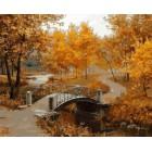 Осенний парк Раскраска картина по номерам акриловыми красками на холсте Белоснежка | Картины по номерам купить