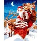 Подарки от Санты Клауса Раскраска картина по номерам акриловыми красками на холсте Iteso | Картину по номерам купить