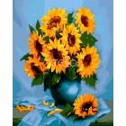 Натюрморт с подсолнухами Раскраска картина по номерам акриловыми красками на холсте Iteso | Картину по номерам купить