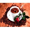 Чашка ароматного кофе Раскраска картина по номерам на холсте Iteso