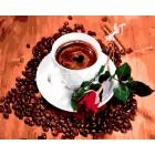 Чашка ароматного кофе Раскраска картина по номерам акриловыми красками на холсте Iteso | Картину по номерам купить