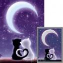 Под лунным небом Алмазная вышивка мозаика Гранни