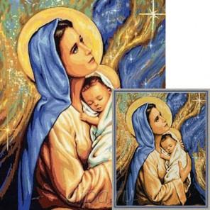 Мадонна с младенцем Алмазная мозаика вышивка Гранни