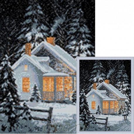 Зимний уют Алмазная мозаика вышивка Гранни | Алмазная мозаика купить