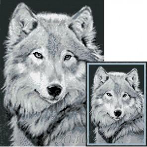 Серый волк Алмазная мозаика вышивка Гранни | Алмазная мозаика купить