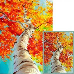 Осенняя береза Алмазная мозаика вышивка Гранни | Алмазная мозаика купить