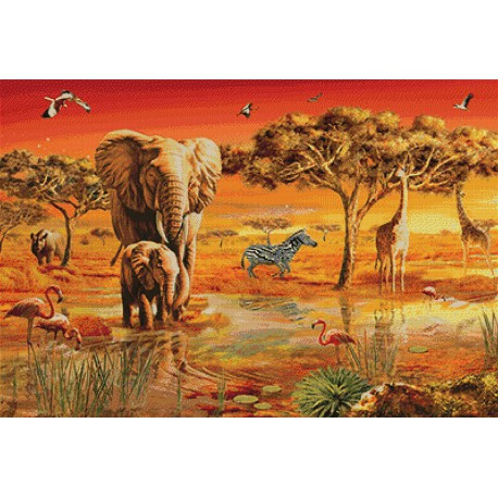 Африка. Травоядные Алмазная мозаика вышивка Гранни | Алмазная мозаика купить