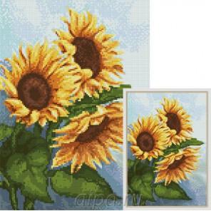 Солнечные цветы Алмазная мозаика вышивка Гранни