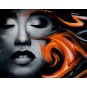 Пламенное граффити Алмазная мозаика вышивка Гранни
