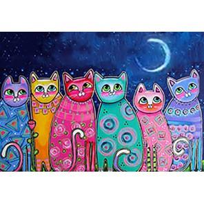 Разноцветные коты Алмазная мозаика вышивка Гранни | Алмазная мозаика купить