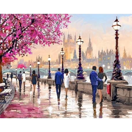Городской вечер Алмазная мозаика вышивка Гранни   Алмазная мозаика купить