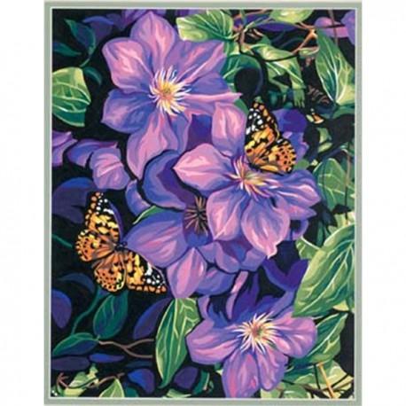 Клематисы и бабочки 91403 Раскраска по номерам Dimensions