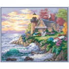 Дом у маяка на берегу 91129 Раскраска по номерам Dimensions
