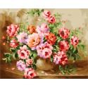 Букет роз Раскраска картина по номерам на холсте