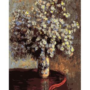 Астры (репродукция Клод Моне) Раскраска картина по номерам акриловыми красками на холсте | Картина по номерам купить
