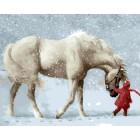 Снегопад Раскраска картина по номерам акриловыми красками на холсте | Картина по номерам купить