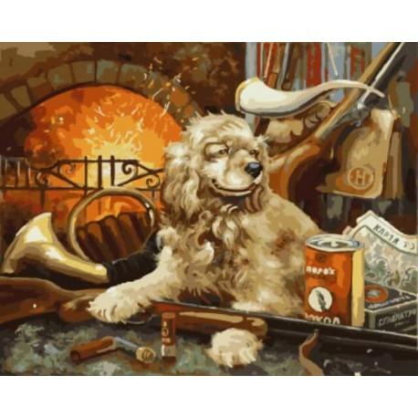 На охоту Раскраска картина по номерам акриловыми красками на холсте