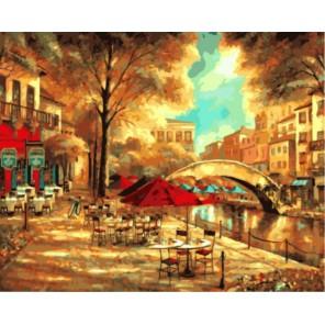 Набережная Раскраска картина по номерам акриловыми красками на холсте