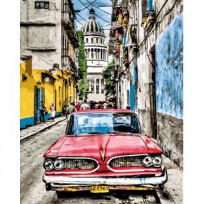 Ретро автомобиль Раскраска картина по номерам акриловыми красками на холсте | Картина по номерам купить