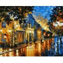Вечерний бульвар Раскраска картина по номерам на холсте
