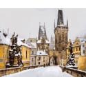 Карлов мост зимой, Прага Раскраска картина по номерам акриловыми красками на холсте | Картина по цифрам купить