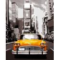 Нью-Йоркское такси Раскраска картина по номерам акриловыми красками на холсте | Картина по цифрам купить