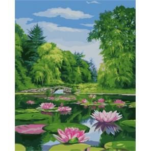Пейзаж с кувшинками (художник Жалдак Эдуард) Раскраска картина по номерам акриловыми красками на холсте