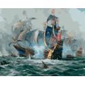 Морской бой Раскраска картина по номерам на холсте