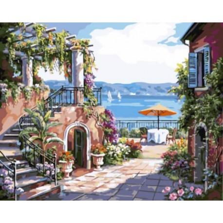 Тосканская терраса Раскраска картина по номерам акриловыми красками на холсте   Картина по цифрам купить