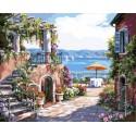 Тосканская терраса Раскраска картина по номерам на холсте