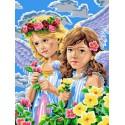 Ангелочки Раскраска картина по номерам на холсте