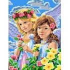 Ангелочки Раскраска картина по номерам акриловыми красками на холсте | Картина по цифрам купить