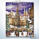 На рождественской ярмарке Раскраска картина по номерам на холсте Hobbart
